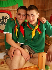 Cute wanking and sucking scout boys